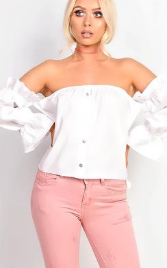 Vera Bardot Frill Sleeve Top