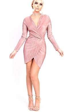 Maisey Ribbed Long Sleeved Midi Bodycon Dress