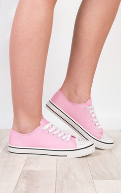 Lida Diamante Canvas Trainers