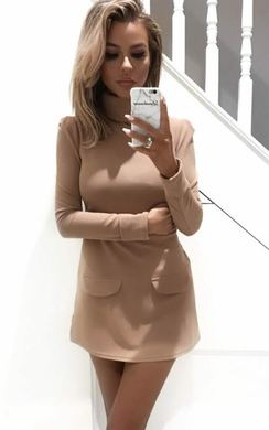 Bobbi High Neck Shift Dress