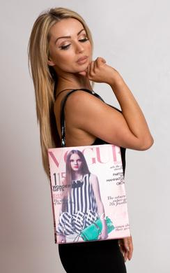 Harlie Magazine Print Handbag
