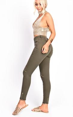 Ellah Skinny Ripped Jeans