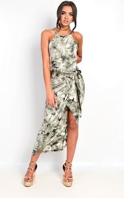Ellie Tie Dye Wrap Dress