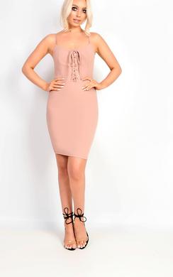 Mirey Lace Up Bodycon Dress