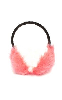 Britt Pink Fluffy Ear Muffs