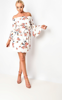 Karolina Bardot Floral Dress