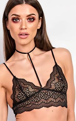 Emrezy Black Lace Bralet