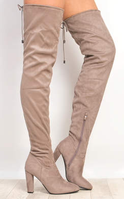 Perla Faux Suede Knee High Boots