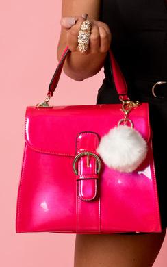 Koko Faux Fur Pom-Pom Bag Charm