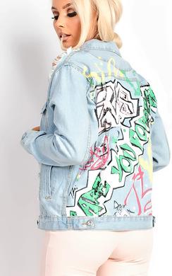 Jordyn Distressed Denim Jacket