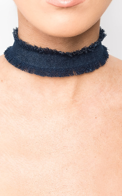 Connie Denim Choker