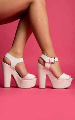 Lyra Peep Toe Platform Heels