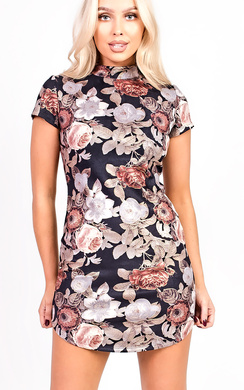Lina Floral Bodycon Dress