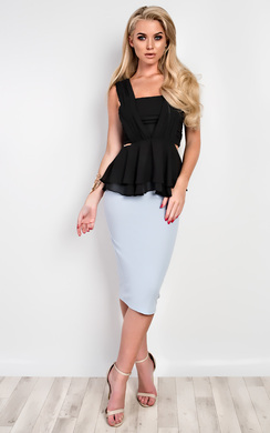 Lise Cut-Out Ruffle Top