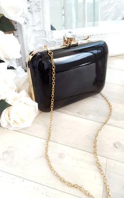 Elena Shiny Mirror Effect Clutch Bag