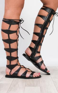 Megara Lace Up Sandals