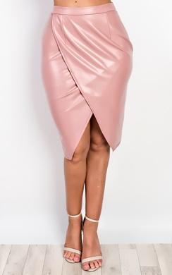 Atlanta Faux Leather Skirt