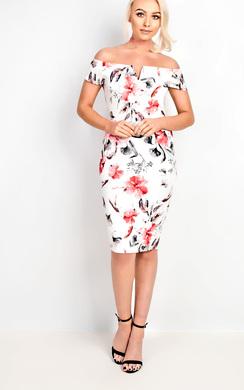 Roxy Floral Midi Dress