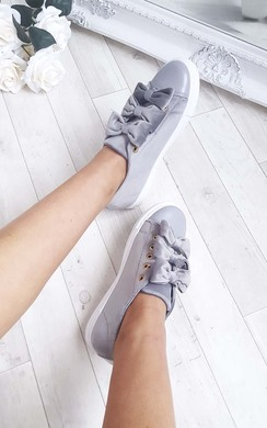 Bailey Bow Faux Suede Trainer