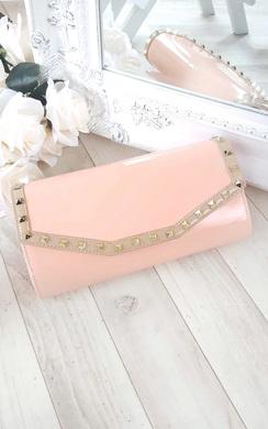 Nelly Studded Envelope Clutch Bag