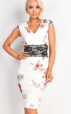 Abbie Floral Midi Dress