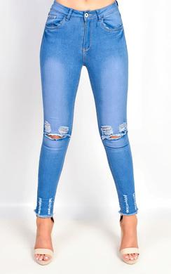 Izzy Skinny Ripped Jeans