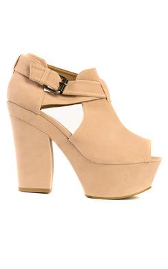 Britta Peep Toe Cut Out Heels