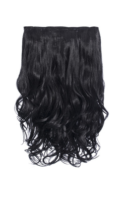 Intense Volume Clip In Hair Extensions - Curly Jet Black