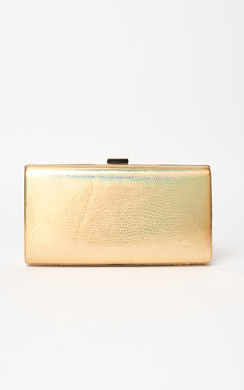 Anneke Croc Metallic Clutch Bag