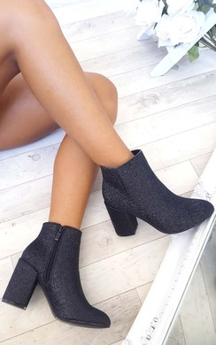 Solange Glitter Ankle Boots