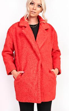 Kayli Boucle Collar Button Coat