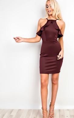 Kailyn Frill Bodycon Dress