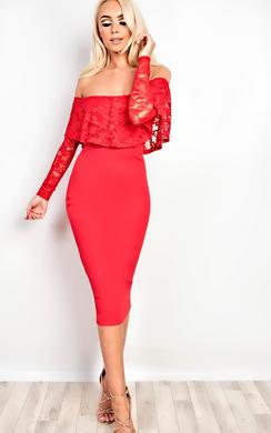 Ramona Off Shoulder Bodycon Dress