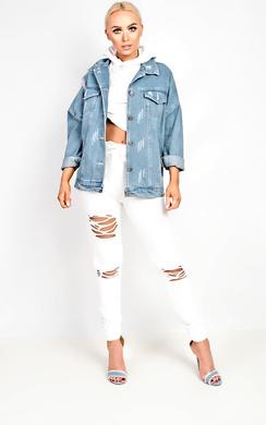 Elania Distressed Co-ord Loungewear Set