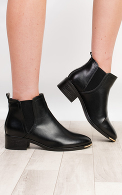 Alessia Faux Leather Ankle Boots