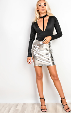 Rochelle Metallic Skirt