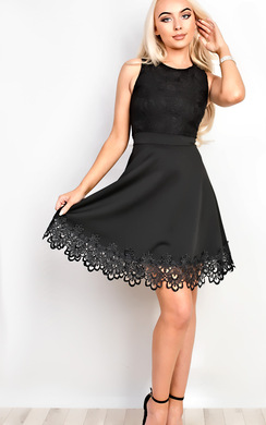 Luisah Lace Skater Dress