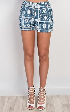 Shay Embroidered Denim Shorts
