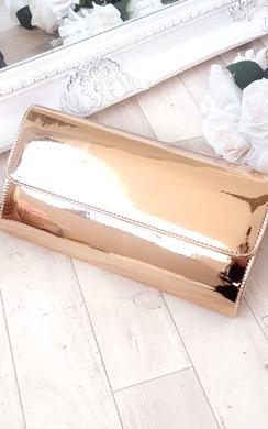 Mika Metallic Envelope Clutch Bag
