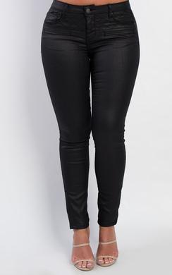 Saimara Faux Leather Jeans