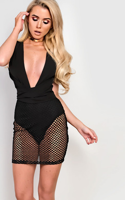 RiRi Mesh Detail Dress