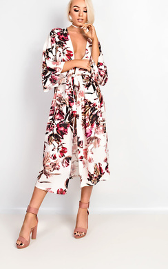 Alice Floral Print Longline Kimono