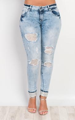 Tamala Sequin Detail Jeans