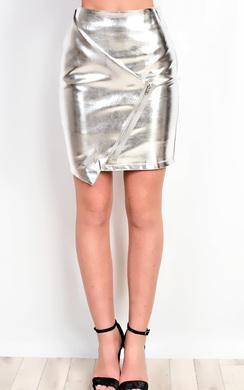 Aidrianna Metallic Skirt