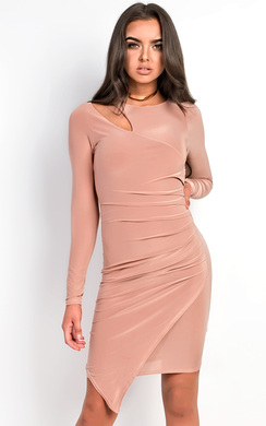 Alazia Slinky Ruched Cut out Dress