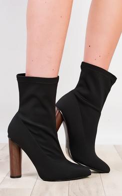 Naomi Lycra Heeled Boots