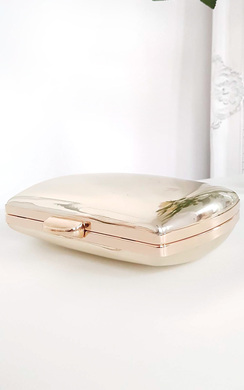 Kelly Metallic Mirror effect Clutch Bag