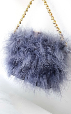 Lyla Feather Shoulder Bag