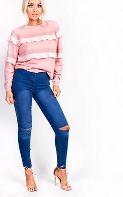 Kara High Waisted Ripped Skinny Jeans