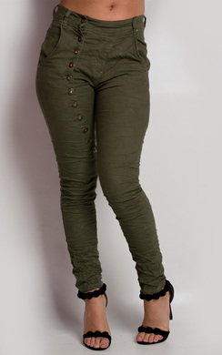 Starly Button Skinny Trousers